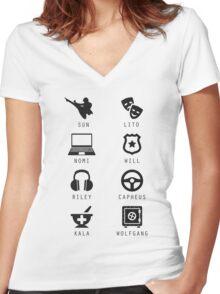 Sense8 Minimalist Women's Fitted V-Neck T-Shirt