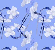 Narcissus light blue pattern by ViShenca