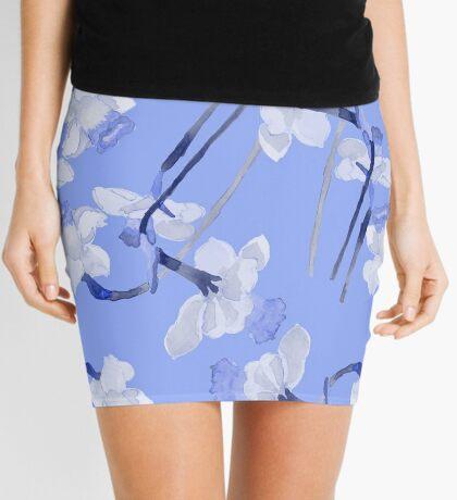 Narcissus light blue pattern Mini Skirt