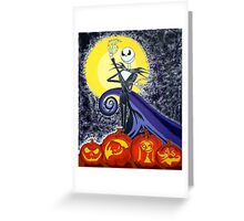Jack and The Pumpkins Greeting Card