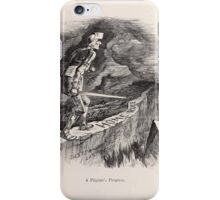 Cartoons by Sir John Tenniel selected from the pages of Punch 1901 0127 A Pilgrim's Progress iPhone Case/Skin