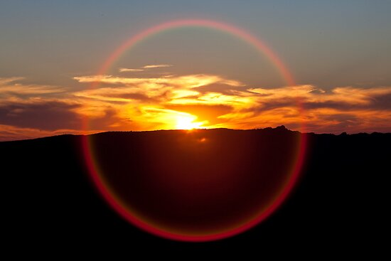 Sunset Halo by Travis Easton