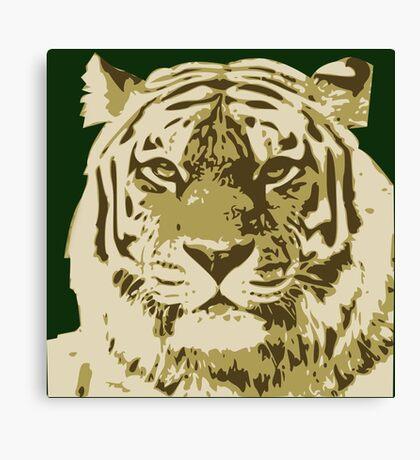 Tiger head in three colors Canvas Print