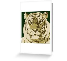 Tiger head in three colors Greeting Card