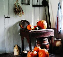 Pumpkins in Kitchen by Susan Savad