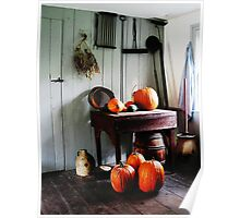 Pumpkins in Kitchen Poster