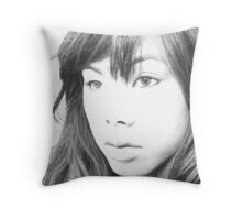 """ Sketching Love "". Throw Pillow"
