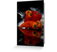 Smokin Peppers Greeting Card