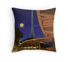 The Spire and the Moon Throw Pillow