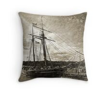 Getting Ready To Sail Throw Pillow