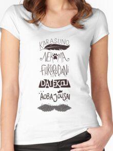 Haikyuu!! Teams - Black Women's Fitted Scoop T-Shirt
