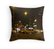 Taxi in the City Throw Pillow
