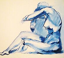 Nude Woman-India Ink by alexisjmichel