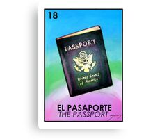 El Pasaporte - The Passport - Loteria Canvas Print