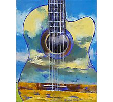 Guitar and Clouds Photographic Print