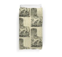 Through the Looking Glass Lewis Carroll art John Tenniel 1872 0232 I Can't Stand it Any Longer Duvet Cover