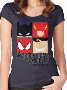 Adoption Works: Adopted Superheroes Women's Fitted Scoop T-Shirt