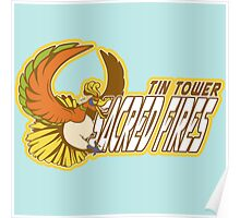 Tin Tower Sacred Fires: Ho-oh Sports Logo Poster