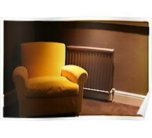 Yellow chair, Dublin Poster
