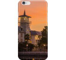 Orange Sunset over Celebration Florida iPhone Case/Skin