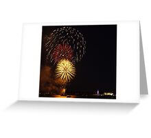 Australia Day Eve fire works Greeting Card