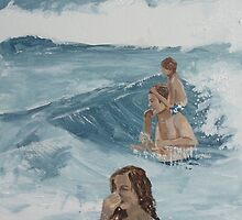 Playing in the Waves by donnarollins