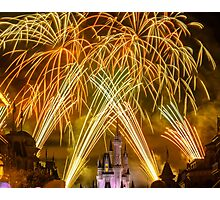 We've Got Some Wishes To Grant! - Wishes Fireworks Photographic Print
