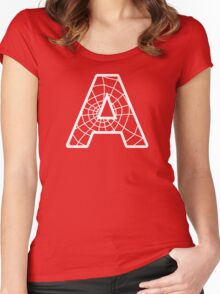 Spiderman A letter Women's Fitted Scoop T-Shirt