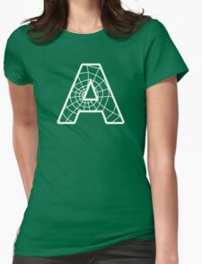 Spiderman A letter Womens Fitted T-Shirt