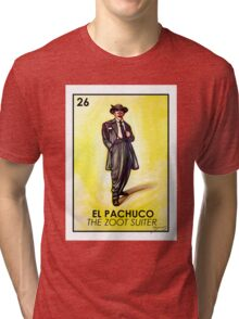 El Pachuco -The Zoot Suiter - Loteria Tri-blend T-Shirt