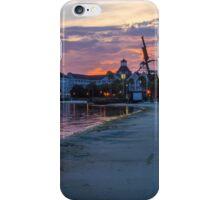 Sunset over Disney's Yacht Club iPhone Case/Skin