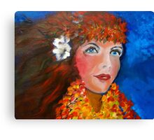 Hula - Sweet Blue Eyed Leilani Canvas Print