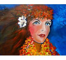 Hula - Sweet Blue Eyed Leilani Photographic Print