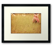 Every blade of grass.... Framed Print