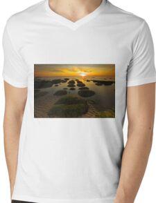 Sunset Hunstanton Mens V-Neck T-Shirt