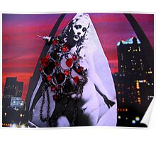 Night City Chick Collage Poster