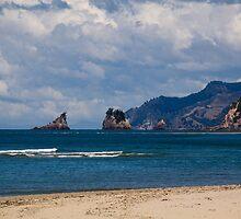 Whangamata Beach by Antony Burton