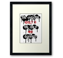 The Creative Adult Is The Child Who Survived Framed Print
