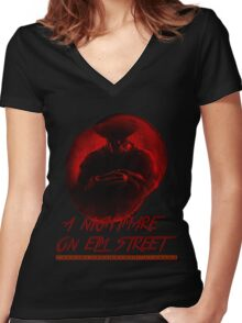 A Nightmare On Elm Street Women's Fitted V-Neck T-Shirt