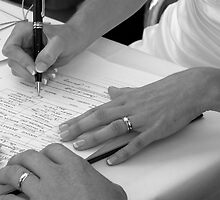 Sign on the Dotted Line! by Rebecca  Nicolandos
