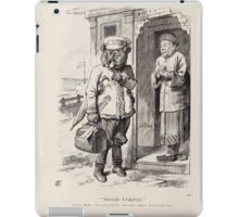 Cartoons by Sir John Tenniel selected from the pages of Punch 1901 0158 Seaside Lodgings iPad Case/Skin