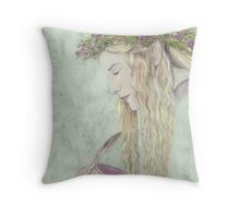 Fairy Scribe Throw Pillow