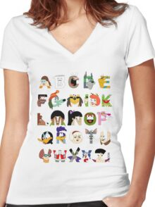 Child of the 70s Alphabet Women's Fitted V-Neck T-Shirt