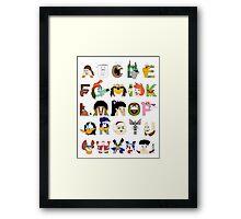 Child of the 70s Alphabet Framed Print