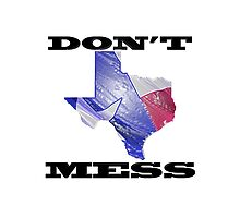Don't Mess With Texas Custom Pattern Bags by UniqueBags