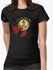 Slave War Pin Up Womens Fitted T-Shirt