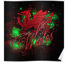 Welsh Dragon, Wales, Solar System  Poster