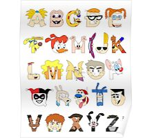 Child of the 90s Alphabet Poster