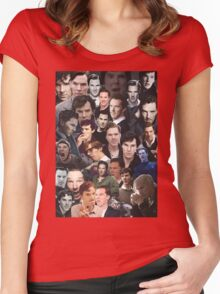 Benedict Cumberbatch Collage Women's Fitted Scoop T-Shirt