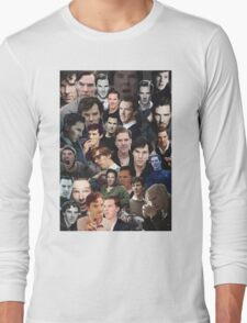 Benedict Cumberbatch Collage Long Sleeve T-Shirt